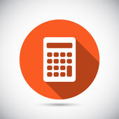 Calculator icon Flat design — Stockvektor