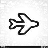 ícone de símbolos de avião — Vetor de Stock