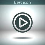 Het pictogram van de knop web spelen — Stockvector