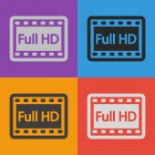 Full HD video icon — Stock Vector