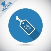 90 percent's OFF tag icon — Stock Vector