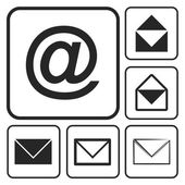 Envelope Mail icon set — Stok Vektör