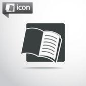 Open book icon — Stock Vector
