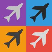 Airplane symbol design — Stock Vector