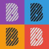 Zebra alphabet letter B — Stock Vector