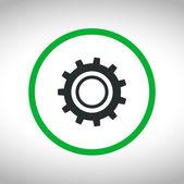 Icono de engranaje — Vector de stock