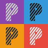 Zebra alphabet letter P — Stock Vector
