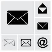 Envelope Mail icon set — Vettoriale Stock