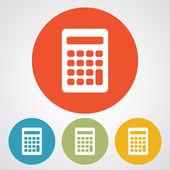 Calculator icon Flat design — Stockvector