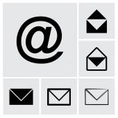 Envelope Mail icon set — Vector de stock