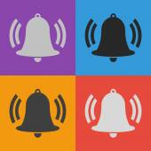 Bell-Icondesign — Stockvektor