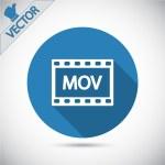 MOV video icon — Stock Vector #59781543
