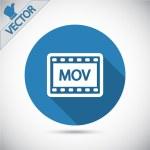 MOV video icon — Stock Vector #59782715