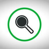 Search icon. Flat design — Stock Vector