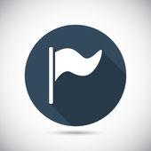 Flag web icon — Stock Vector