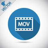 MOV video icon — Stock Vector