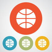 Basketball ball icon set — Stock Vector