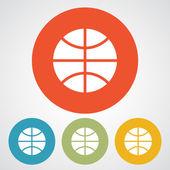 Basketball ball icon set — Stock Vector