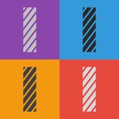 Zebra alphabet letter I — Stock Vector