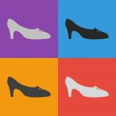 Womens shoe icon — Stock Vector