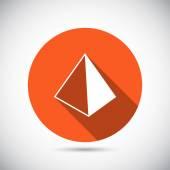 Pirâmide ícone do design — Vetor de Stock