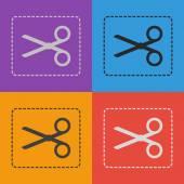 Scissors flat icon — Stock Vector