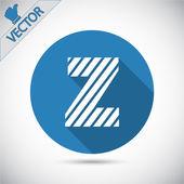 Zebra alphabet letter Z — Stock Vector