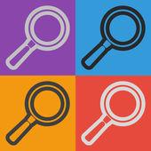 Search icon design — Stock Vector