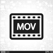 MOV Video icon design — Stock Vector