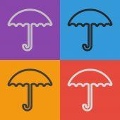 Umbrella icon design — Stock Vector