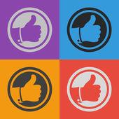 Como ícone. Estilo de design plano — Vetor de Stock
