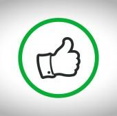 Like symbols icon — Stock Vector