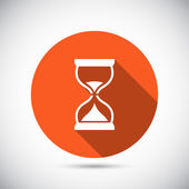 Песочные часы значок дизайн — Cтоковый вектор