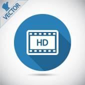 HD video icon — Stock Vector