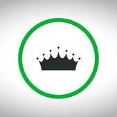 Crown icon design — Stock Vector