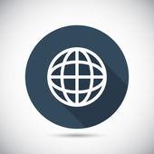 Icône de globe. Style design plat — Vecteur
