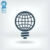 Global light bulb icon — Stockvektor