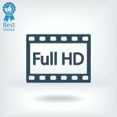 Full HD video icon — Stock Vector