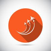 Icono de símbolos de avión — Vector de stock