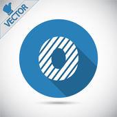 Zebra alphabet letter O — Stock Vector