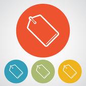Tag icon design — 图库矢量图片