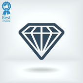 Icono de diamante — Vector de stock