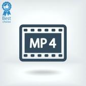 MPEG 4 video icon — Stock Vector
