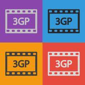 3GP Video icon design — Stock Vector