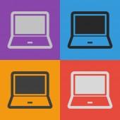Dizüstü bilgisayar simgesi tasarım — Stok Vektör