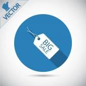 BIG SALE tag icon — Stock Vector