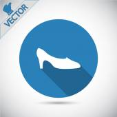 Womens shoes icon — Stock Vector