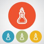 Ikona szkło laboratoryjne — Wektor stockowy