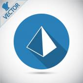 Pyramide-Icondesign — Stockvektor