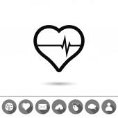 Srdce ikona — Stock vektor